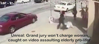 Unreal: Grand jury won't charge woman caught on video assaulting elderly pro-lifer