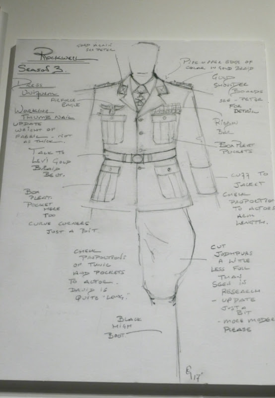 Man High Castle season 3 George Lincoln Rockwell costume sketch