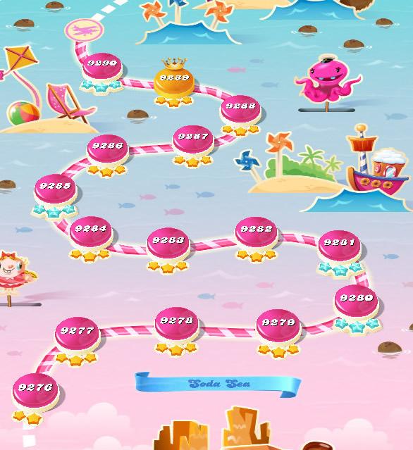 Candy Crush Saga level 9276-9290