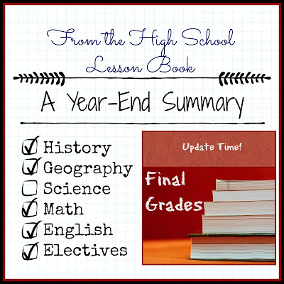 From the High School Lesson Book - A Year End Summary for 2018-2019 on Homeschool Coffee Break @ kympossibleblog.blogspot.com