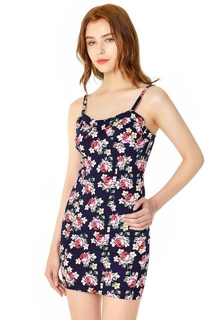 Printed Floral Short Summer Dress