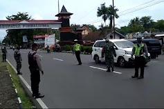 Hari Pertama PPKM, Pintu Masuk Kabupaten Purbalingga Dijaga Ketat
