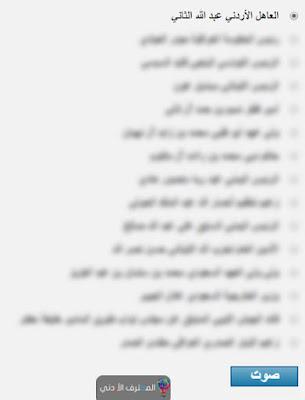 كيفية التصويت للملك عبد الله الثاني كأفضل وأبرز شخصية عربية لعام 2016