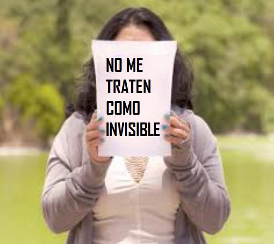 persona victima de invisibilidad