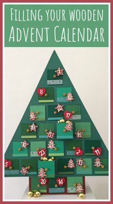 Ideas for filling a wooden Advent calendar