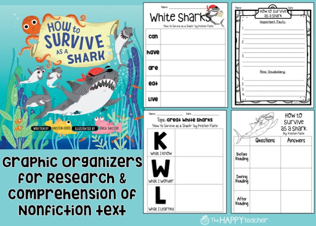 Graphic organizers for reading, writing, and science