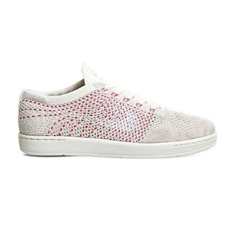 Nike tennis classic ultra flyknit white and red mesh trainers with white rubber sole