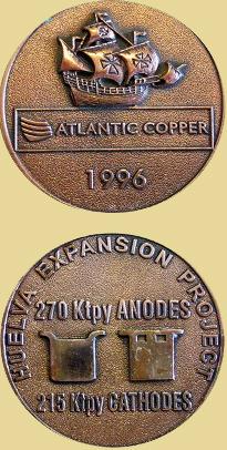 Medalla por la Expansión del Proyecto de Huelva de la Atlantic Copper, 1996