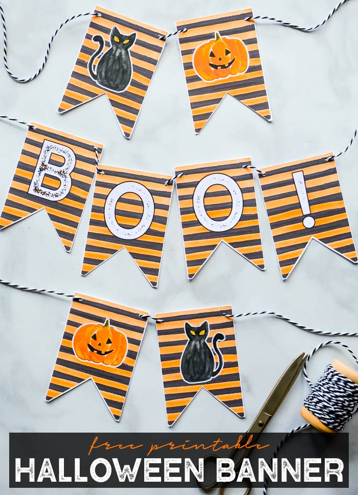 Halloween Banner Printable
