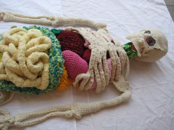 Impressive Life-Size Crochet Skeleton By Canadian Artist