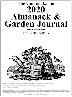 A downloadable 2020 Almanack & Garden Journal