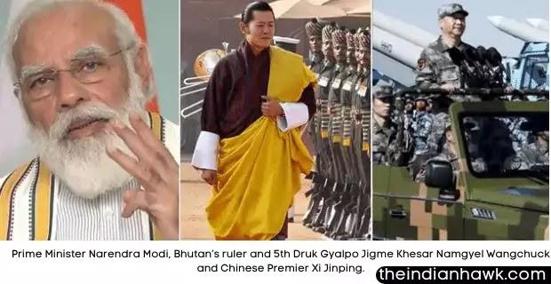 Prime Minister Narendra Modi, Bhutan's ruler and 5th Druk Gyalpo Jigme Khesar Namgyel Wangchuck and Chinese Premier Xi Jinping.