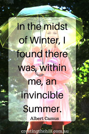 In the midst of winter, I found there was, within me, an invincible summer. ~ Albert Camus