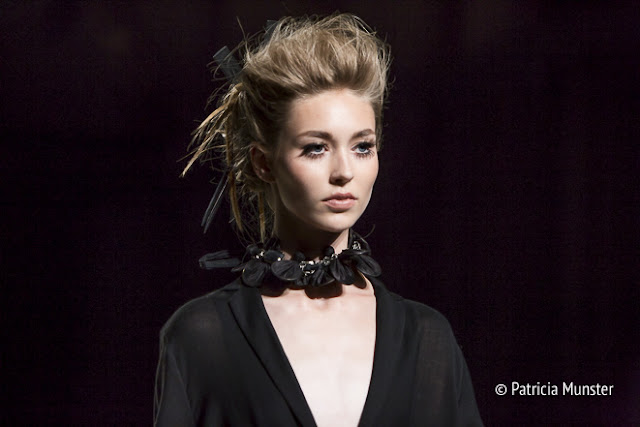 Make up by Mac and hair by Goldwell at Amsterdam Fashion Week