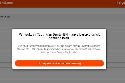 Cara dan Syarat Buka Rekening  BNI Prakerja Online