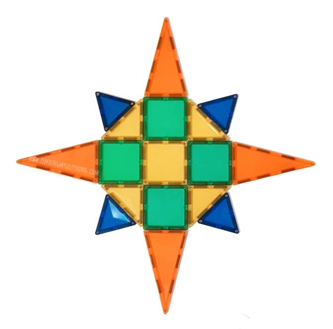 mandala made from connetix tiles