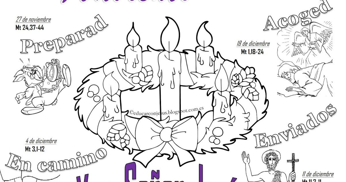 Educar con Jesús: Calendario dominical de Adviento - Ciclo A