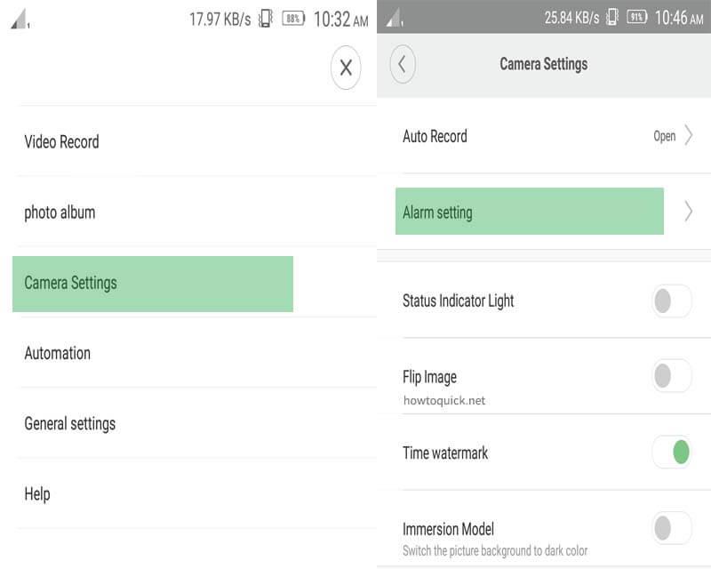Xiaomi XiaoFang IP Camera Motion Detection Alarm Setup in Mi