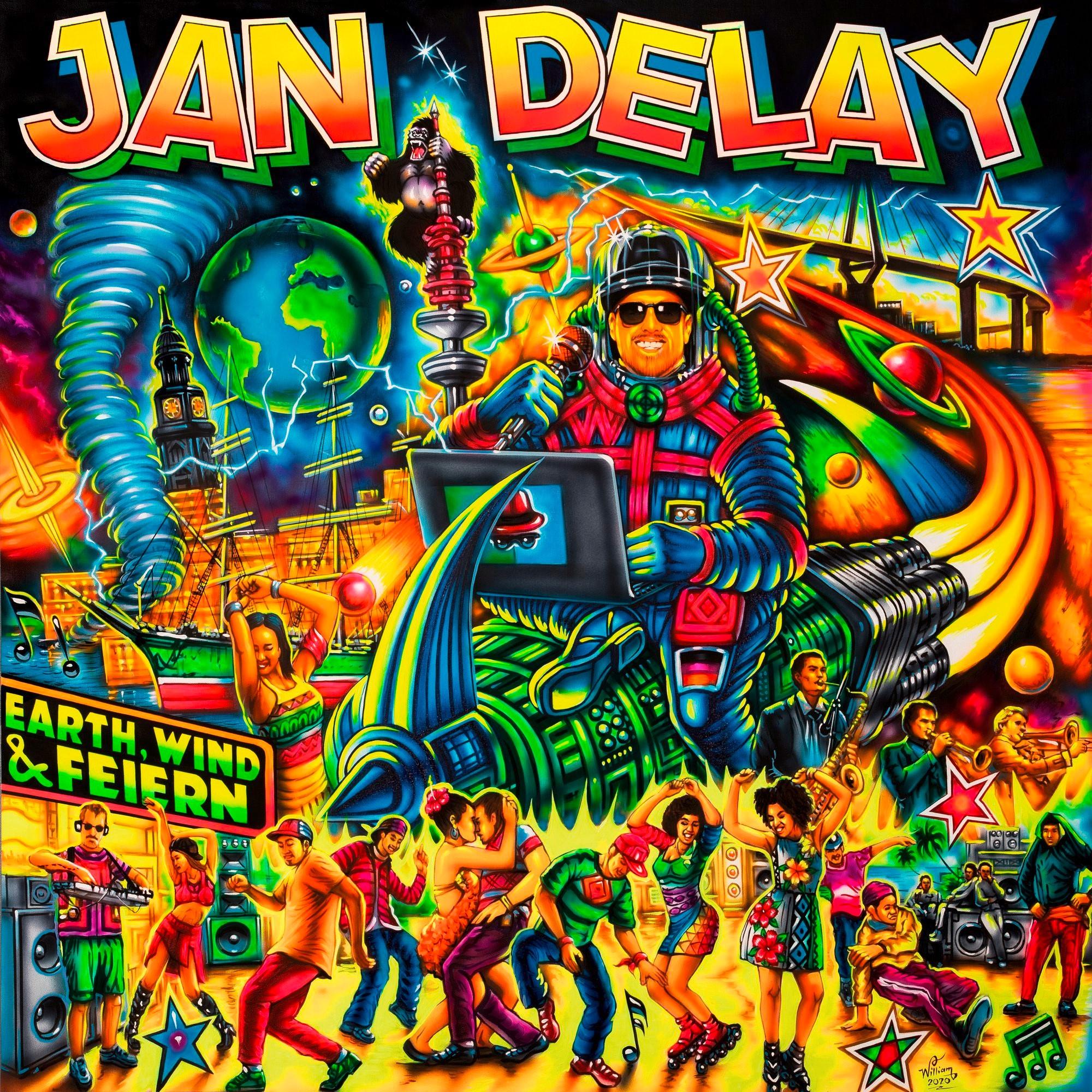 """Jan Delay kündigt sein neues Album """"Earth, Wind & Feiern"""" an mit der Single Intro"""