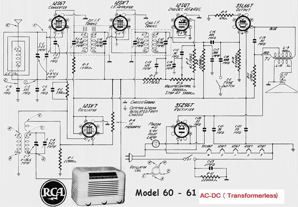 Schematic Diagrams  Rca Valve Radio Circuit Diagram