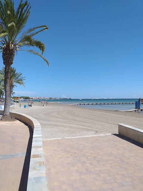 Santiago de la Ribera beach Spain