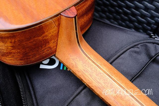 Uluru Sedera III tenor ukulele neck