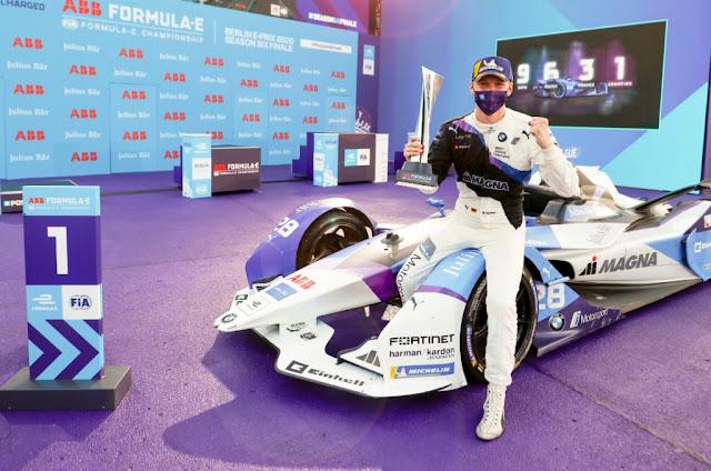 Victoria del BMW de Max Günther con Frijns y Vergne en el podio