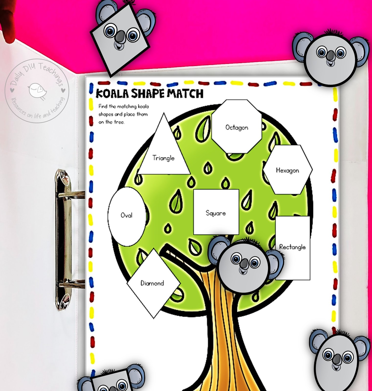 Super Cute Diy Busy Book Printable To Teach Shapes Daily Diy
