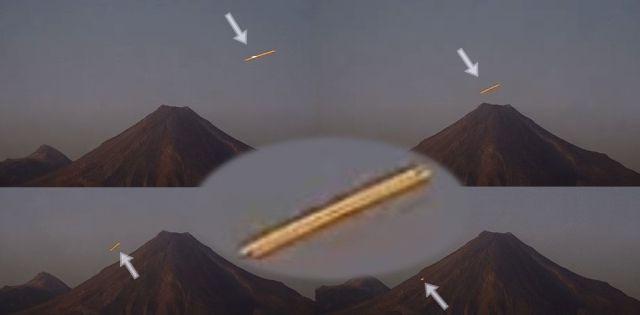 Bright UFO approaches and descends to the hillside of Colima Volcano  Ufo-colina-volcano-mexico