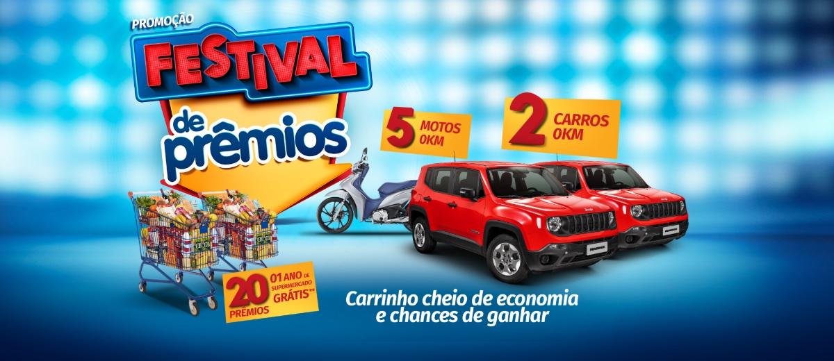 Promoção Festival de Prêmios Amigão, Cidade Canção e São Franciso Supermercados