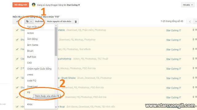 Cách xóa một nhãn bất kì trong blogspot an toàn