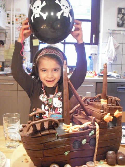 Piratenschiff Torte für meine Tochter Clara