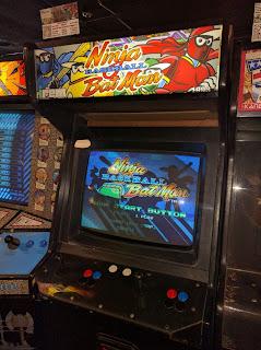 Recreativa original Arcade Ninja Baseball Bat Man