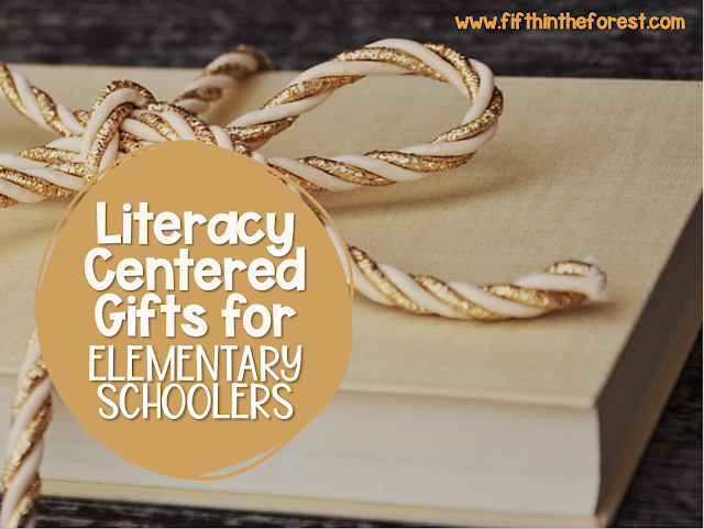 Title Image for Literacy Centered Gifts for Elementary Schoolers