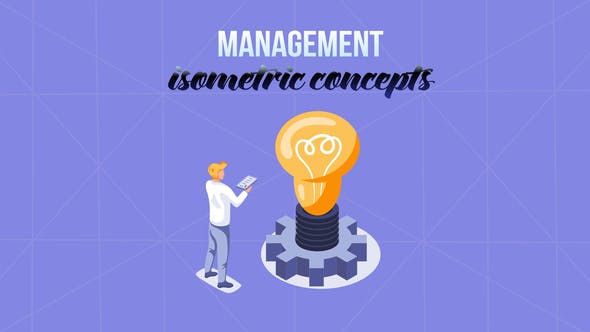 Management - Isometric Concept[Videohive][After Effects][29057189]