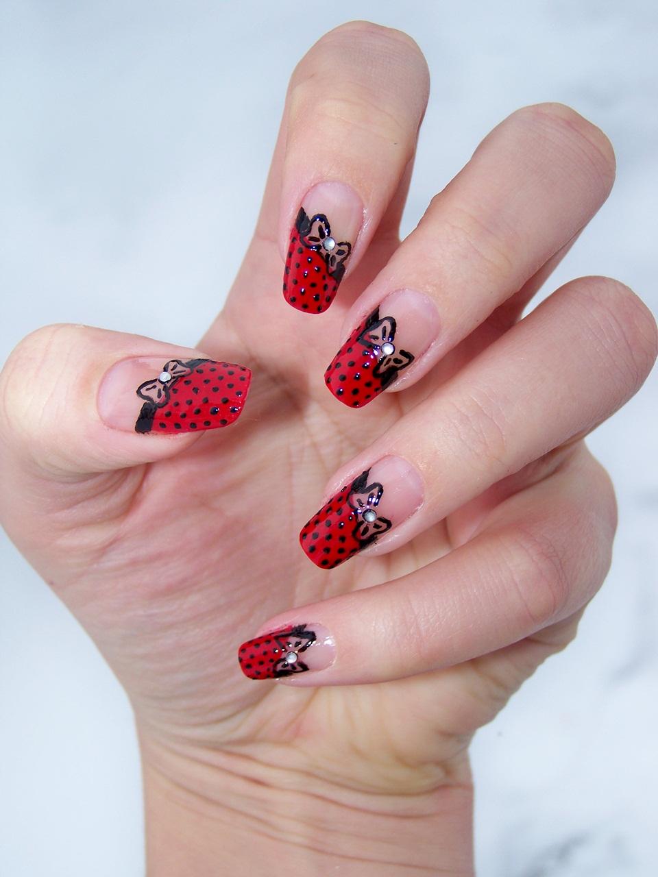 Love For Nails Czerwono Czarne