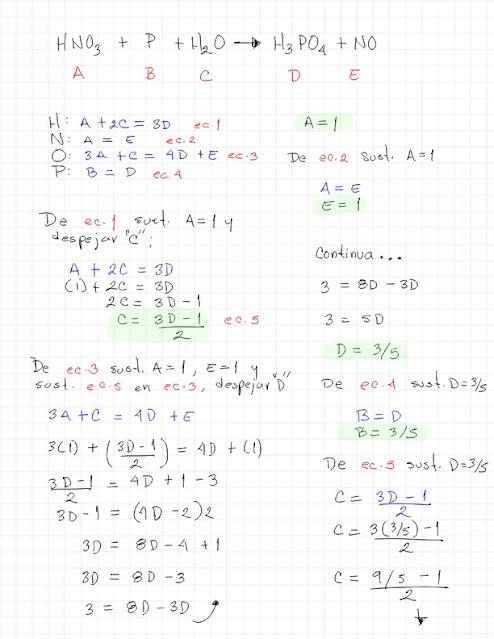 HNO3 + P + H2O →  H3PO4 + NO