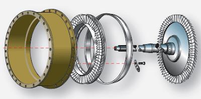 Aircraft gas turbine engine turbine section