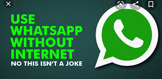 Use and send messages in whatapp without data