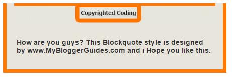 Blogger Blockquote Style 18