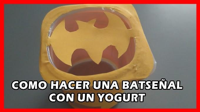 Hoy os enseñamos como hacer una bat-señal funcional con un yogur
