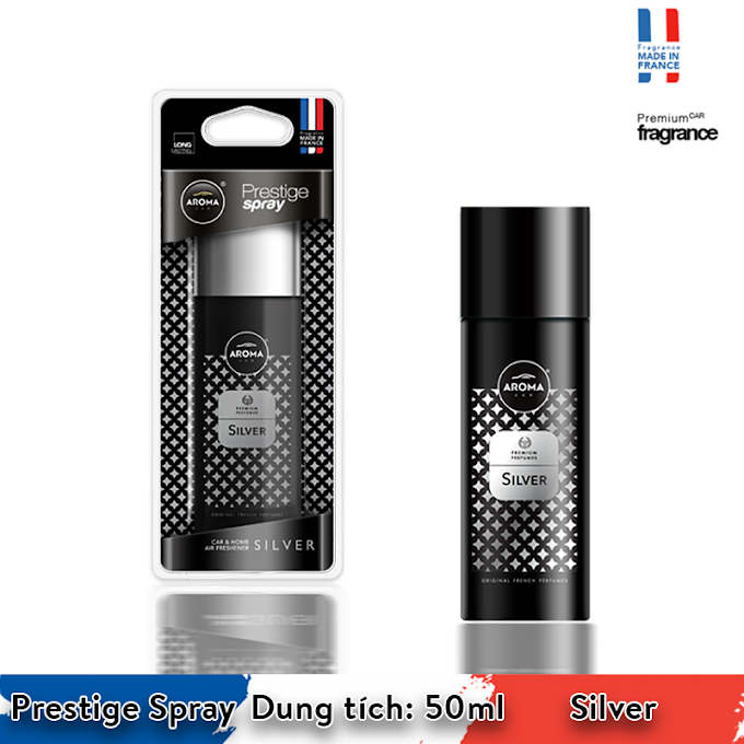 Nước hoa dạng xịt Aroma Car Prestige Spray 50 ml - Silver