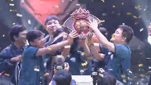 EVOS LEGENDS  muncul sebagai Juara Pertama pertandingan Mobile Legends Bang Bang peringkat Dunia