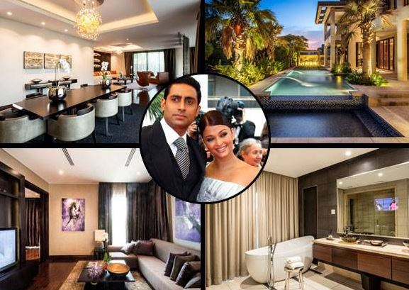 aishwarya rai and abhishek bachchan house inside