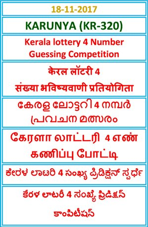4 Number Guessing Competition KARUNYA KR-320