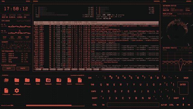 eDEX UI tron-like interface