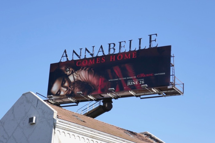 Annabelle Comes Home extension billboard