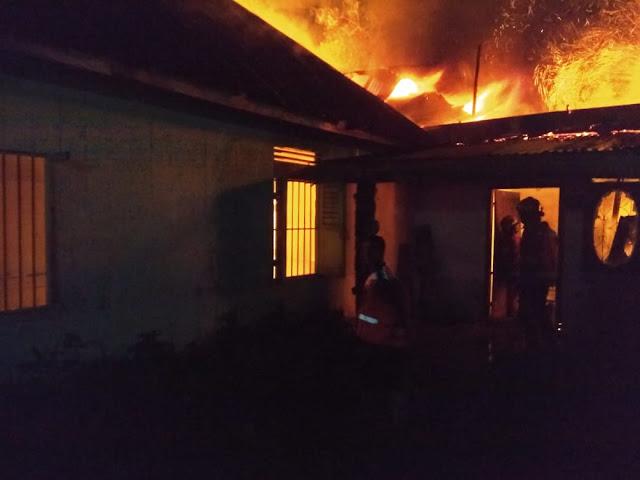 Satu Unit Rumah Hangus Terbakar Di Binjai