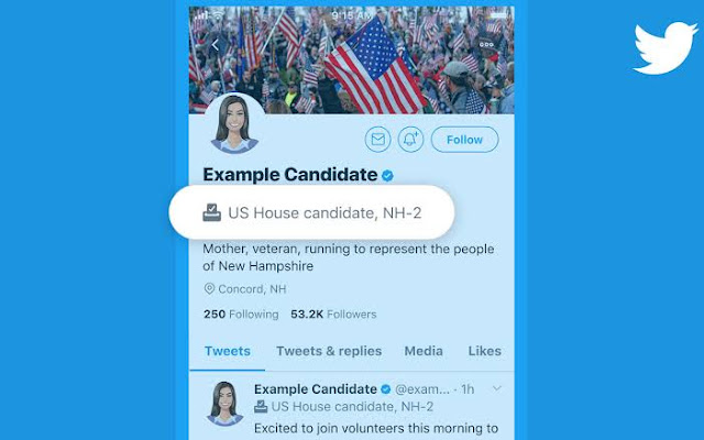 Twitter Updates Profile Labels for US Elections Candidates