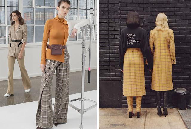 Пальто и брюки в желтую клетку